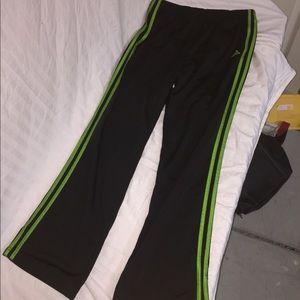 Adidas green medium track pants
